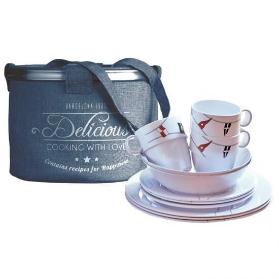 13-teiliges Geschirrset + Tragebehälter Regata Marine Business MARINE BUSINESS Bootsgeschirr