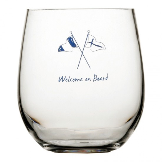 Wasserglas Welcome on Board Marine Business MARINE BUSINESS Welcome on Board