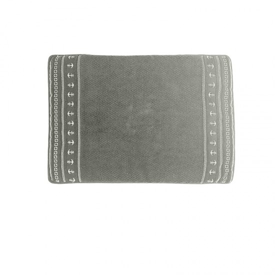 Rutschfeste Frottee-Matte Grey Anchors Santorini Marine Business MARINE BUSINESS Bathroom
