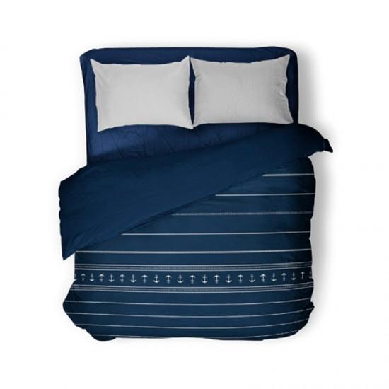 Leichte Bettdecke double blue Santorini Marine Business MARINE BUSINESS Cabin