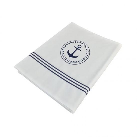 Überschlaglaken + Kissenbezug single white Santorini Marine Business MARINE BUSINESS Cabin