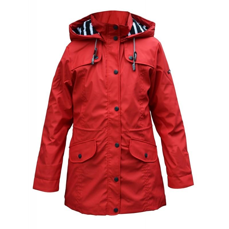 BATELA maritimer Damen Regenmantel rot BATELA Maritime Mode