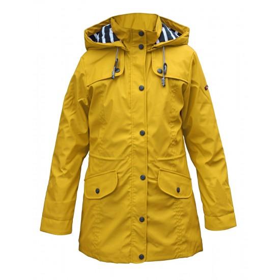 BATELA maritimer Damen Regenmantel gelb BATELA Maritime Mode