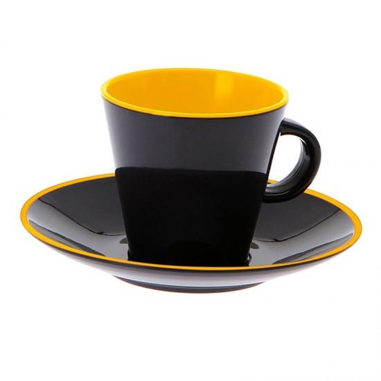 4-teiliges Espressotassenset - GIMEX Grey Line yellow GIMEX Bootsgeschirr