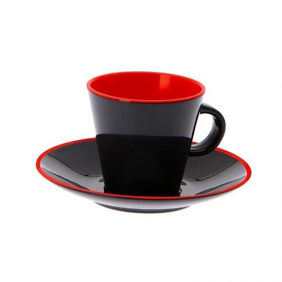 4-teiliges Espressotassenset - GIMEX Grey Line rot GIMEX Bootsgeschirr