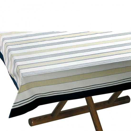 Tischdecke Beige/Blue striped Marine Business MARINE BUSINESS Tischwaren