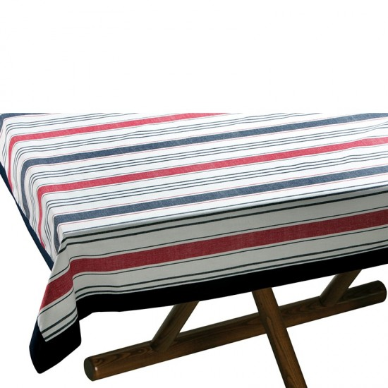 Tischdecke Red/Blue striped + 8 Servietten Marine Business MARINE BUSINESS Tischwaren