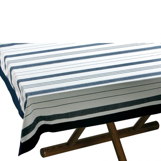 Tischdecke Blue striped + 8 Servietten Marine Business MARINE BUSINESS Bootsgeschirr