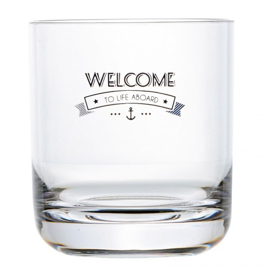 Wasserglas Welcome to Life Marine Business MARINE BUSINESS Party