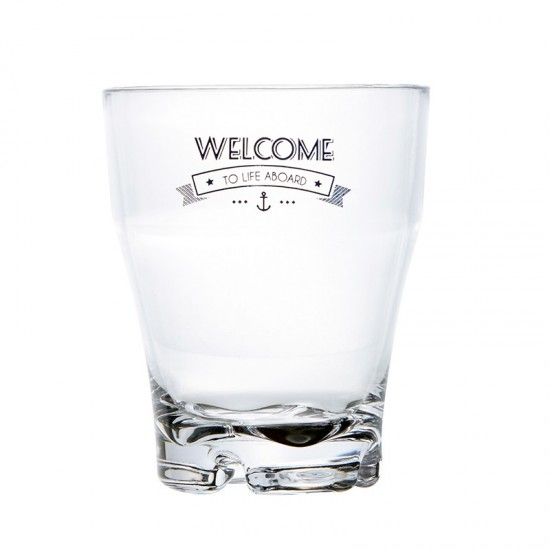 Stapelbares Wasserglas Welcome to Life Marine Business MARINE BUSINESS Party