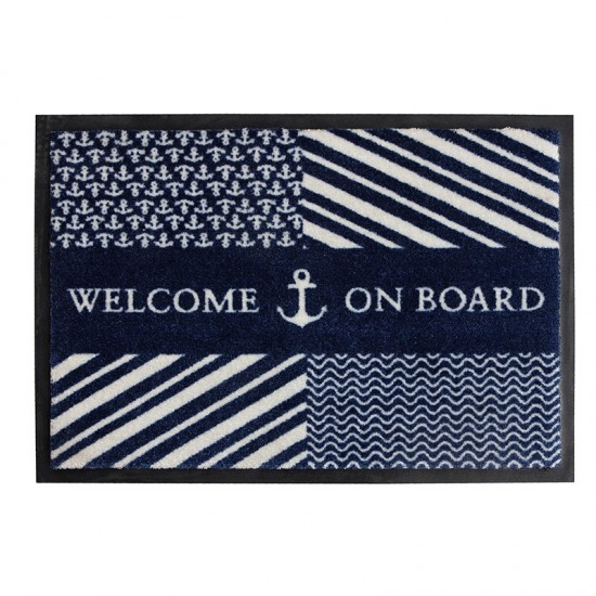 Rutschfeste maritime Fußmatte Navy Welcome on Board Marine Business MARINE BUSINESS Accessoiries