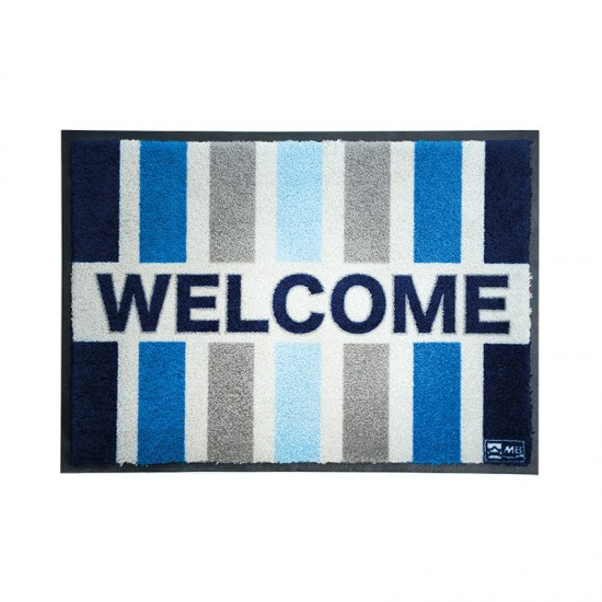 Rutschfeste Fußmatte Welcome Stripes Welcome Marine Business MARINE BUSINESS Accessoiries