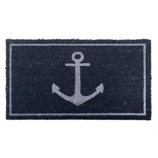 BATELA Rutschfeste maritime Fußmatte Anker navy BATELA Accessoiries