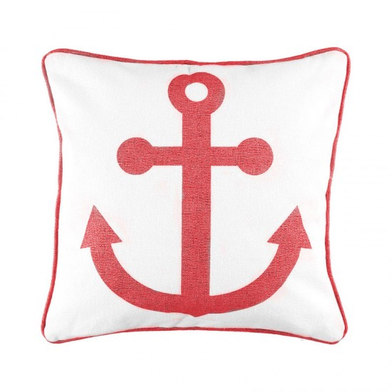 Kissenbezug maritim RINDÖ rot GRIPSHOLM Cabin