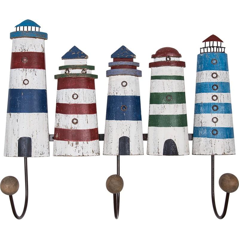 BATELA maritimer Kleiderhaken Leuchtturm  Accessoiries