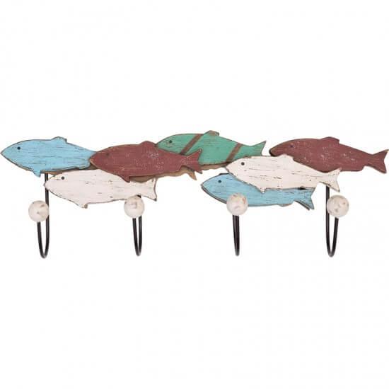 BATELA maritimer Kleiderhaken Fische  Accessoiries