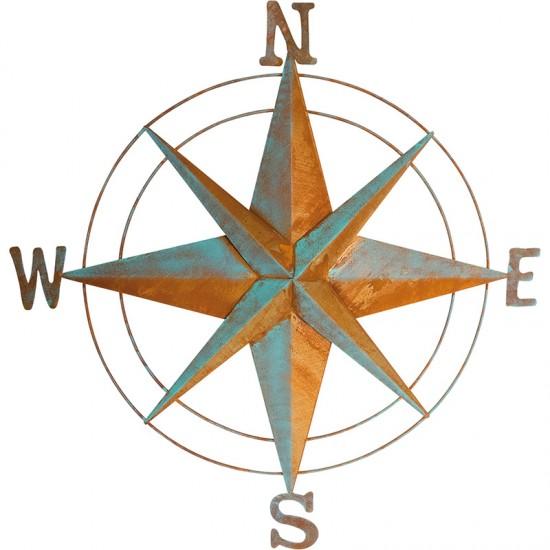 BATELA maritime Wanddeko Windrose  Accessoiries