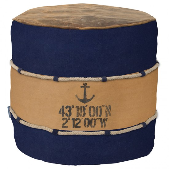 BATELA maritimer Sitzcube Pouf BATELA Maritime Dekoration