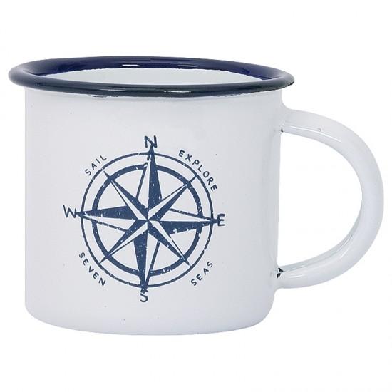 BATELA maritimer Emaille Becher Windrose  Accessoiries