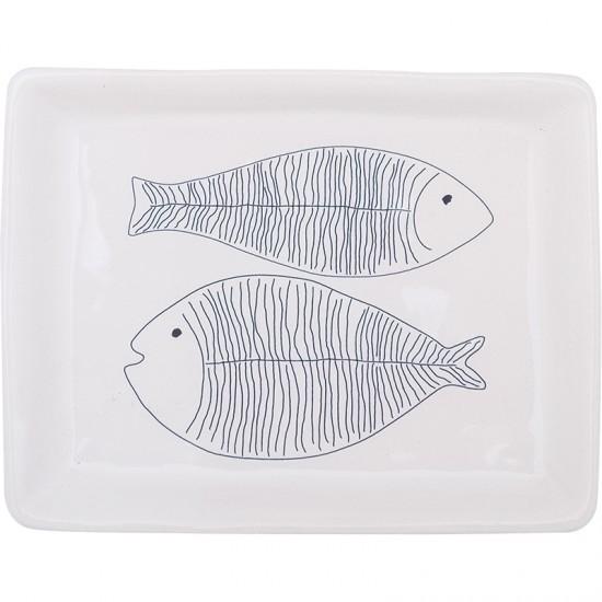 Maritimer Kuchen-/Dessertteller BATELA Fisch  BATELA maritimes Porzellan