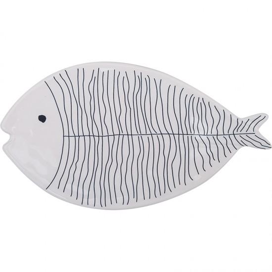 Maritimer Obstteller BATELA Fisch  BATELA maritimes Porzellan