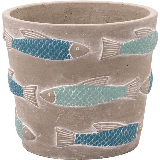 BATELA maritimer Pflanztopf Fishes  Maritime Dekoration