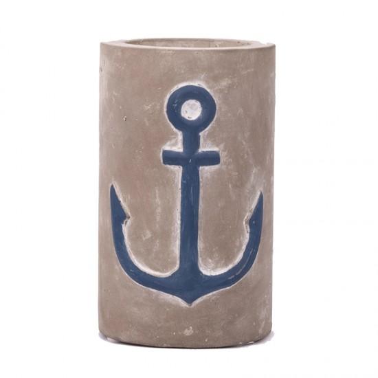 BATELA maritimer Kerzenhalter Anchor  Maritime Dekoration