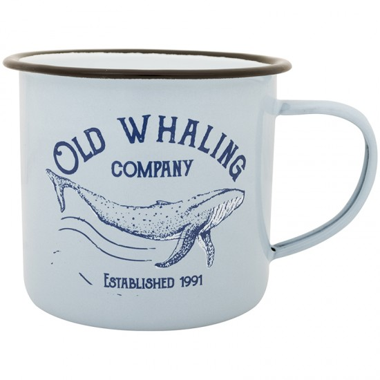 BATELA maritimer Emaille Becher Old Whaling co  Maritime Dekoration