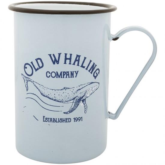 BATELA maritimer Emaille Becher Old Whaling co groß  Maritime Dekoration