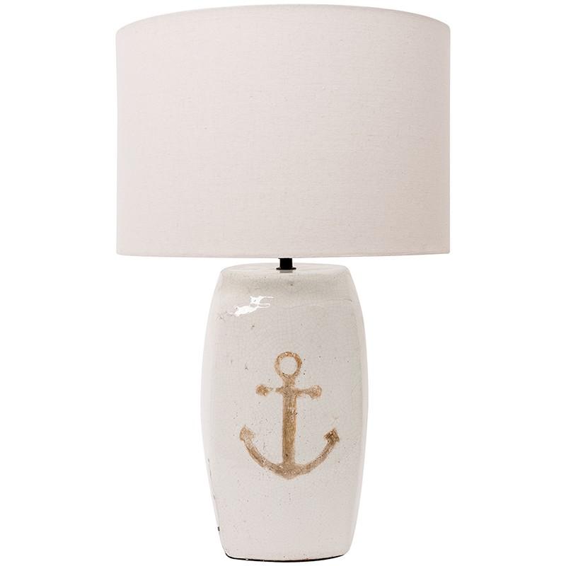 Batela Maritime Tischlampe Anker Zement  Maritime Dekoration