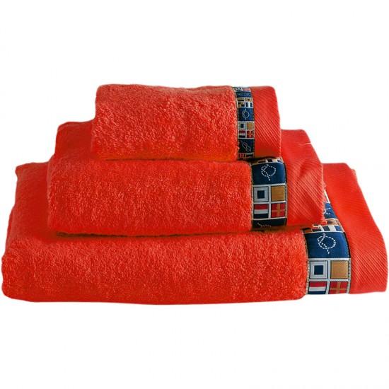 Handtuchset Colors rot Marine Business  Maritime Handtuchsets