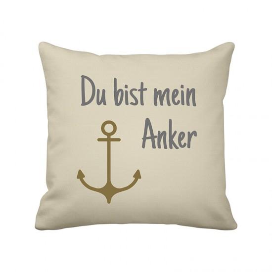 Krasilnikoff Maritimer Kissenbezug mein Anker  Maritime Kissen