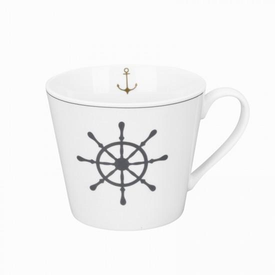 Krasilnikoff Maritimer Kaffeebecher Steuerrad  KRASILNIKOFF