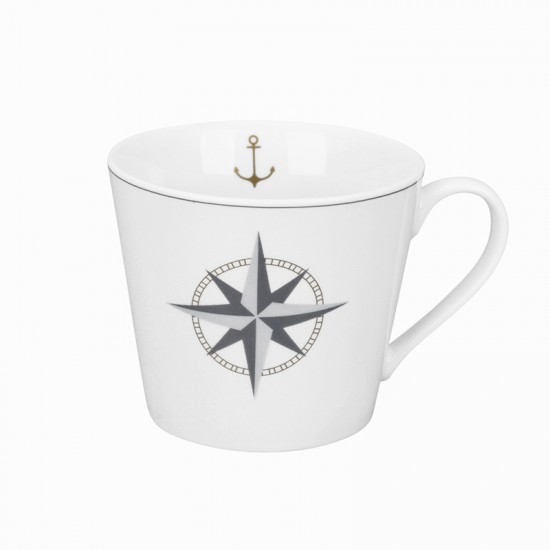 Krasilnikoff Maritimer Kaffeebecher Kompassrose  KRASILNIKOFF