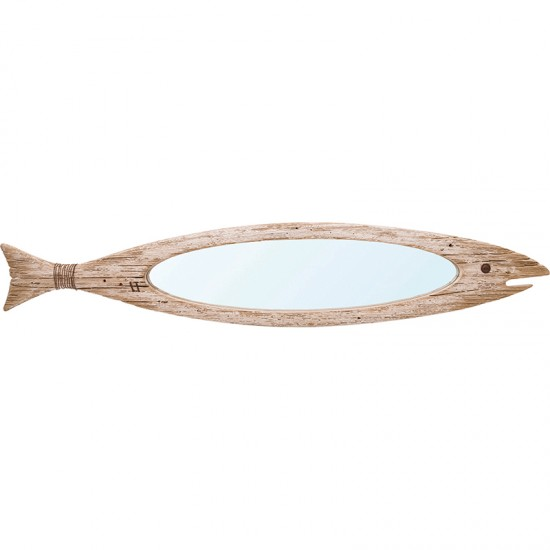 BATELA maritimer Holzspiegel Fisch  Startseite