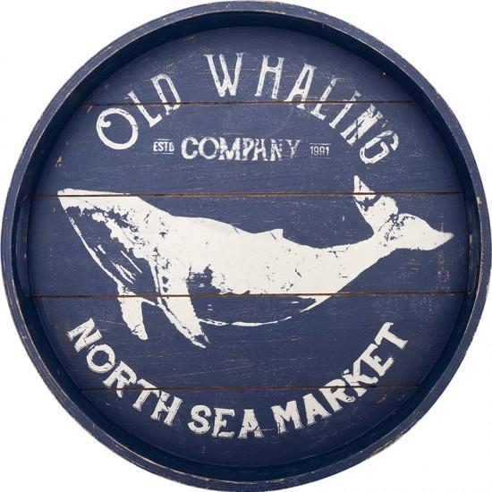BATELA maritimes Tablett rund Wal BATELA Maritime Dekoration