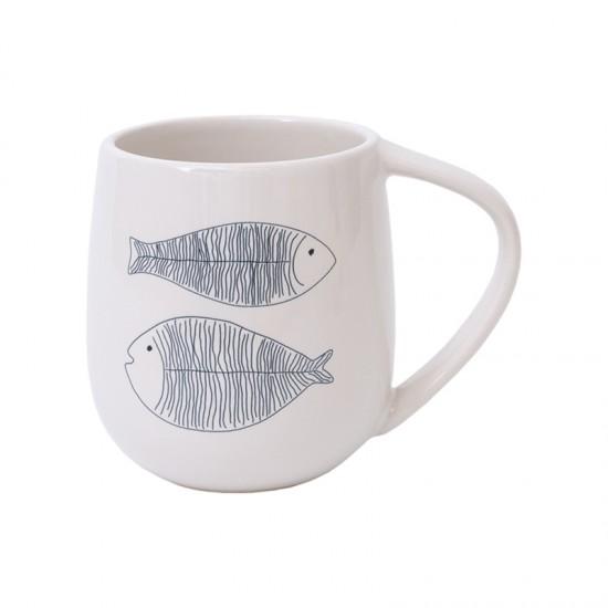 Maritimer Henkelbecher BATELA Fisch  BATELA maritimes Porzellan