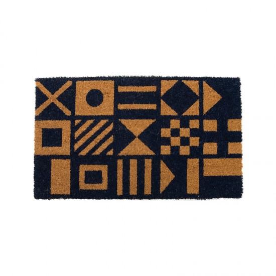 BATELA Rutschfeste maritime Fußmatte Flagge BATELA Accessoiries