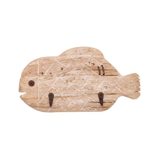 BATELA Maritimer Kleiderhaken Fisch  Maritime Dekoration