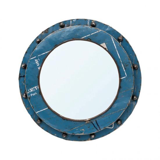 BATELA maritimer Spiegel Porthole rund  Maritime Dekoration