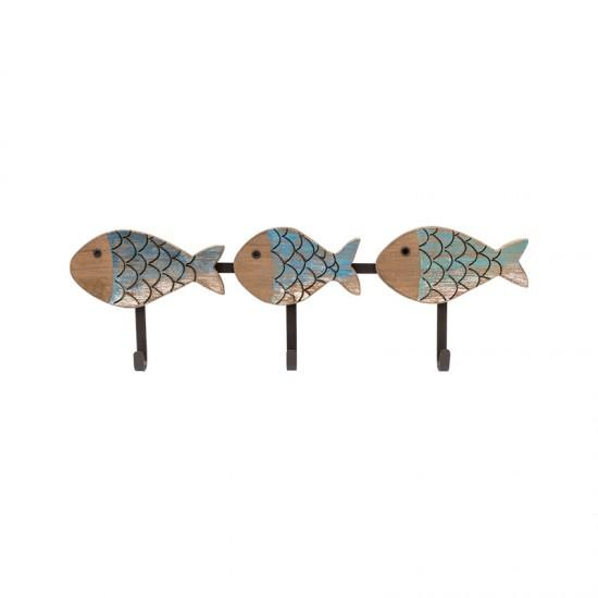 BATELA maritimer Kleiderhaken Fische klein  Maritime Dekoration