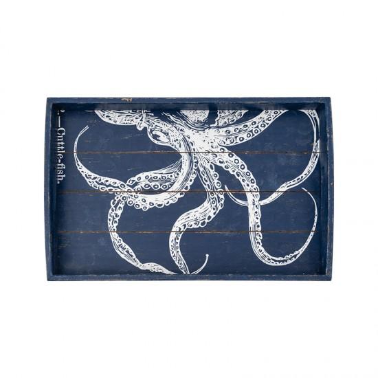 BATELA maritimes Tablett rechteckig Octopus  Maritime Dekoration