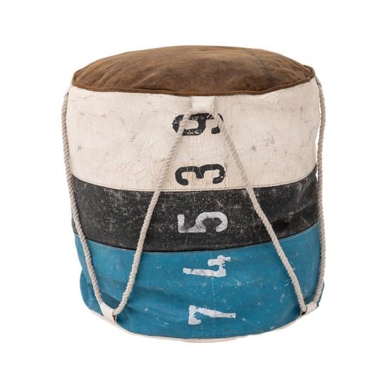 BATELA maritimer Sitzcube Pouf  Maritime Dekoration