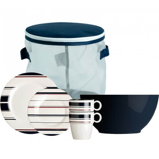 13-teiliges Geschirrset + Tragebehälter Monaco Marine Business MARINE BUSINESS Bootsgeschirr