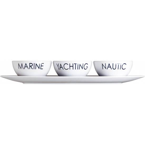 """Snackschale + drei kleine Snackschalen """"Sea"""" Marine Business MARINE BUSINESS Bootsgeschirr"""