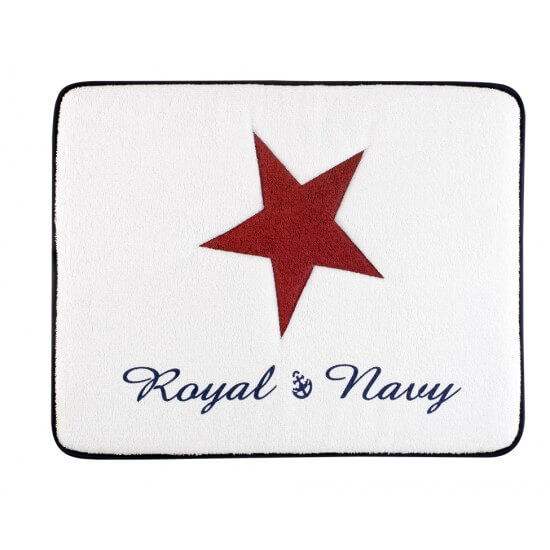 "Rutschfeste Frottee-Matte Medium Red ""Royal"" Marine Business MARINE BUSINESS Bathroom"