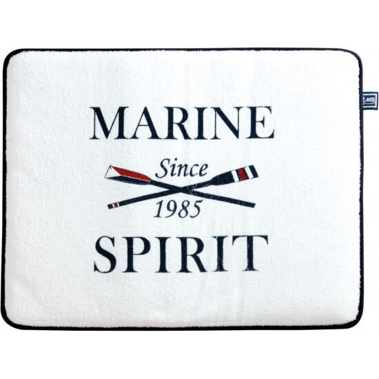 "Rutschfeste Frottee-Matte medium white ""Spirit"" Marine Business"