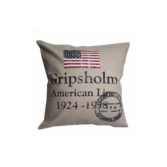 Kissenbezug maritim AMERICAN LINE sand GRIPSHOLM Cabin