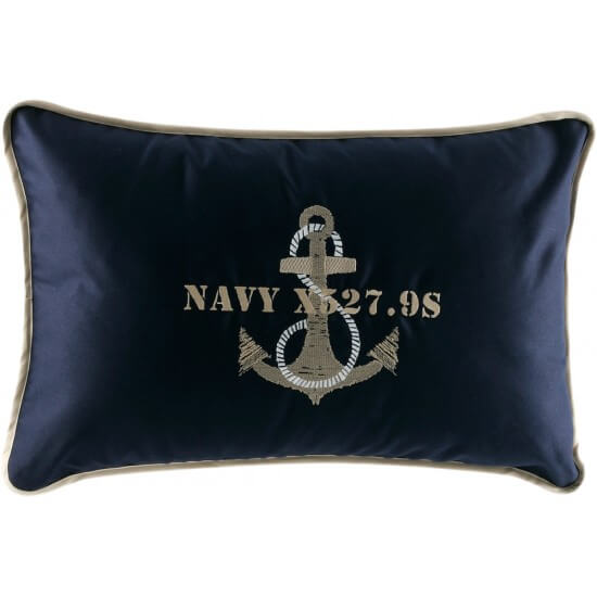 "Kissenbezug Anchor blue navy ""Free Style"" Marine Business MARINE BUSINESS Cabin"