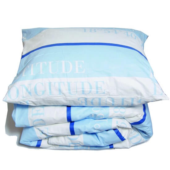 Bettwäsche maritim KORDELIA light blue/white GRIPSHOLM Cabin